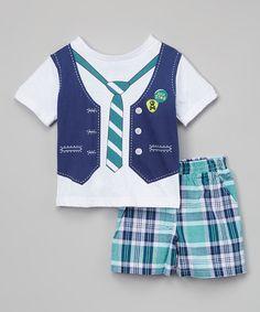 Bayou Vest Graphic Tee & Plaid Shorts - Infant & Toddler #zulily #zulilyfinds