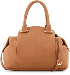 Neiman Marcus Large Slouchy Satchel Bag, Camel. Perfect bag to complete the Autumn look.