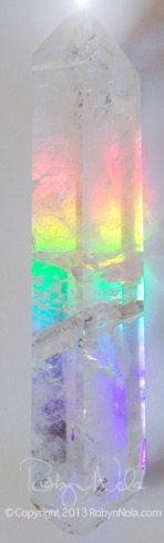 Double Terminated Quartz with rainbow inside ♥ ♥ ♥