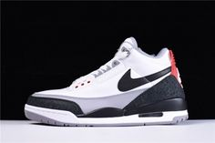online store a352e eff1f Air Jordan 3 Tinker NRG Fire Red For Sale, Dressed in a White, Fire Red, Cement  Grey and Black color scheme. Surfacing for the first time, Tinker  Hatfield s ...