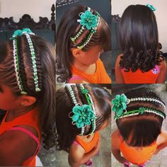 lindo Creative Hairstyles, Unique Hairstyles, Cool Hair Designs, Braids For Kids, Little Girl Hairstyles, My Girl, Hair Beauty, Hair Styles, Beautiful