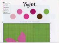 Piglet 1 of 2 Pink Brown, Cross Stitching, Crochet Projects, Cross Stitch Patterns, Crafts, Acre, Eeyore, Plastic Canvas, Friends