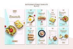Template for brunch business card Food Poster Design, Book Design Layout, Social Media Banner, Social Media Template, Food Template, Templates, Bio Food, Instagram Post Template, Free Business Cards