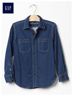 1969 knit denim shirt