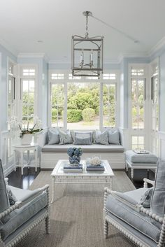 Cool neutral colour palette, windows bring in just the right amount of design interest, love that built in bench seat