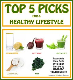 top 5 picks for a healthy lifestyle