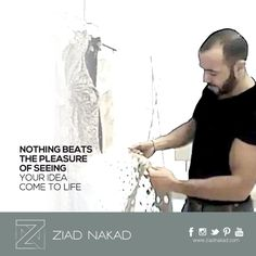 Meet the man behind it all... #ziadnakad #fashion #designer #couture