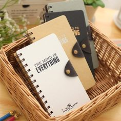 """My Mind"" Journal Diary Coil Bound Cute Planner Pocket Study Notebook  Agenda Notepad Memo Gift"