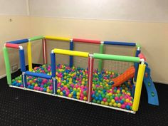 pit in the basement., Ball pit in the basement., Ball pit in the basement. Kids Play Area, Kids Room, Baby Play Areas, Diy For Kids, Crafts For Kids, Best Kids Toys, Toy Rooms, Toddler Activities, Kids And Parenting