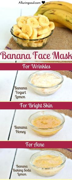 Nourish your skin with this banana face mask packed with essential nutrients and make your skin smooth and bright. Nourish your skin with this banana face mask packed with essential nutrients and make your skin smooth and bright. Banana Face Mask, Acne Face Mask, Face Skin, Banana Facial, Natural Health Tips, Natural Skin Care, Diy Skin Care, Skin Care Tips, Face Brightening