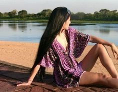 DIY Swimsuit Coverup - Free pattern and Video Tutorial Sewing Patterns Free, Free Sewing, Free Pattern, Diy Clothing, Sewing Clothes, Fashion Fabric, Diy Fashion, Do It Yourself Videos, Design Your Own Clothes