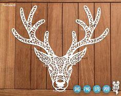 by FoxSister on Etsy Vinyl Paper, Paper Art, Origami, Mandala Elephant, Deer Design, Stencil Material, Elephant Design, Notebook Covers, Christmas Svg