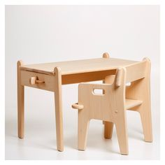 A design classic and inimitable gift for a little one, the CH411 Peter's Table was designed by Hans J. Wegner in 1944 and is manufactured to a superior standard by Carl Hansen and Søn. £350 table. All slots together
