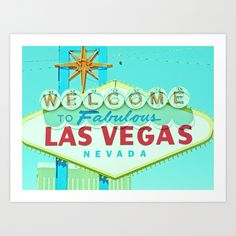 Dot & Bo Welcome to Las Vegas Art Print ($33) ❤ liked on Polyvore featuring home, home decor, wall art и welcome sign