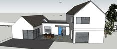 Two Storey House Plans, One Storey House, House Designs Ireland, Cottage Extension, Building Extension, Gable House, Self Build Houses, Rural House, Farmhouse Renovation
