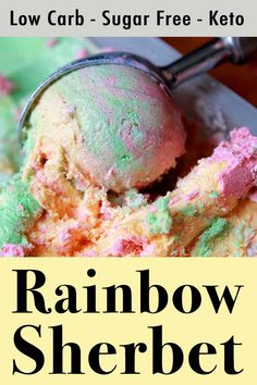 This is a low carb and Keto recipe for homemade sherbet. Its an easy to make frozen treat with only net carbs per serving. This is a low carb and Keto recipe for homemade sherbet. Its an easy to make frozen treat with only net carbs per serving. Keto Friendly Desserts, Low Carb Desserts, Low Carb Recipes, Diabetic Desserts, Diabetic Friendly, Sherbet Recipes, Ice Cream Recipes, Sugar Free Sherbet Recipe, Sin Gluten