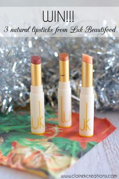 Win your choice of three all-natural Lip Nourishing Lipsticks posted anywhere in the world. Christmas Competitions, Competition Time, Natural Lipstick, Lipsticks, Giveaways, Are You The One, Awesome, Makeup, Nature