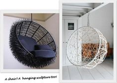 cool swing chairs! like the black porcupine one !