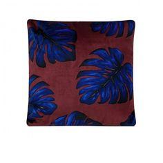 Monstera Leaves Velvet Cushion - WOUF