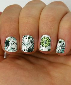 Love this Quatrefoil & Floral Two-Pack Nail Wrap Set by Wrap-em Nails on #zulily! #zulilyfinds