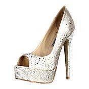 Gorgeous Satin Stiletto Heel Peep Toe Pumps W... – USD $ 79.99