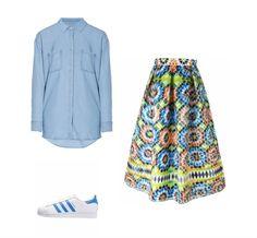 Casual monday: Splendid shirt, Miahatami skirt, adidas Originals sneakers