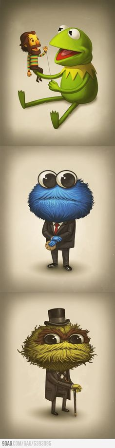9GAG - Tribute to Jim Henson by Mike Mitchell