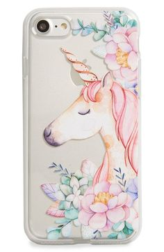 Milkyway Unicorn & Flowers iPhone 7 Case #UnicornPillow