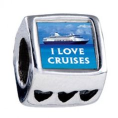 I Love Cruises Photo Heart Charms  Fit pandora,trollbeads,chamilia,biagi,soufeel and any customized bracelet/necklaces. #Jewelry #Fashion #Silver# handcraft #DIY #Accessory