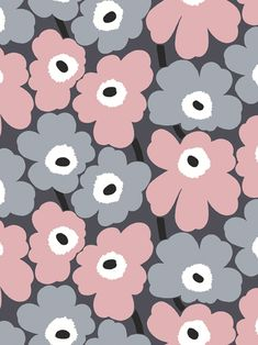 Buy 17901 Marimekko Pieni Unikko Wallpaper from our Wallpaper range at John Lewis & Partners. Free Delivery on orders over Flower Phone Wallpaper, Computer Wallpaper, I Wallpaper, Aesthetic Iphone Wallpaper, Pattern Wallpaper, Aesthetic Wallpapers, Wallpaper Backgrounds, Iphone Backgrounds, Iphone Wallpapers