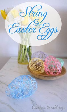 Use Mod Podge to create pretty pastel string Easter Eggs. A fun messy kid friendly project. Easter Projects, Easter Crafts, Holiday Crafts, Crafts For Kids, Spring Crafts, Easter Ideas, Easter Recipes, Holiday Ideas, Craft Projects