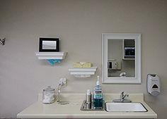 Wood paper towel dispenser, White Healthy Shelf, single sheet, wall mount, top load