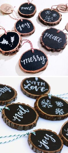Rustic Tree Slice Tags .. This Could Be Used For SO Many Things #diy #inspiration