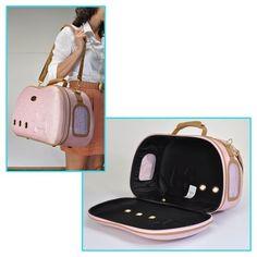 sacs de voyage de luxe camon rose pour chien et chat