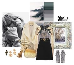 """""""Luxury nature"""" by so-creative ❤ liked on Polyvore featuring Burberry, Yves Saint Laurent, Gucci, Zimmermann, Oscar de la Renta, GUESS by Marciano and Rolex"""