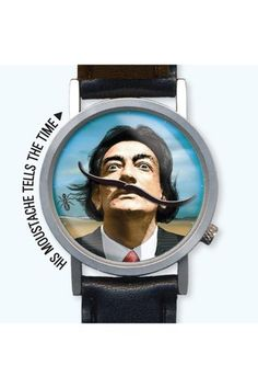 Dali watch - tells time with its mustache