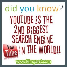 #didyouknow Youtube is the 2nd biggest search engine in the world. #youtube #searchengine www.eventchecklist.net