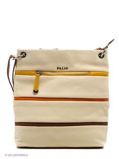Женская сумка Palio из натуральной кожи. Сумка закрывается на металлическую молнию. Внутри - одно отделение, в котором имеется карман на молнии, карман для мобильного телефона и открытый карман. Модель имеет карманы на передней и задней стенках. Длина наплечого ремня - 120 см.
