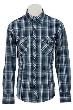 Wrangler Mens Retro Snap Western Shirt MVR087M