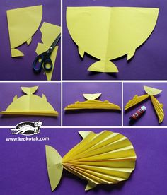 Fish Art Projects For Kids Preschool Schools 58 Ideas Paper Craft Work, Paper Folding Crafts, Art N Craft, Paper Crafts, Sea Crafts, Fish Crafts, Diy And Crafts, Crafts For Kids, Projects For Kids