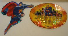 2 DC comics superhero Justice League prismatic series stickers 12 superman 9 JLA