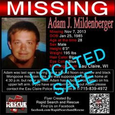 """Located Safe To assist with Amber Alerts and missing person cases through flyer and picture sharing on Facebook please """"Like"""" Rapid Search and Rescue on Facebook: facebook.com/RapidsSAR Follow us on twitter also @Rapid_SAR"""