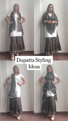 Party Wear Indian Dresses, Indian Fashion Dresses, Indian Designer Outfits, Stylish Dresses For Girls, Stylish Dress Designs, Designs For Dresses, Fashion Sewing, Diy Fashion, Saree Wearing Styles