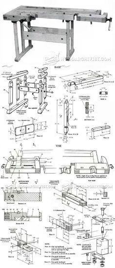 Workbench Plans - Workshop Solutions Plans, Tips and Tricks   WoodArchivist.com