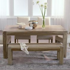 Home Decorators Collection Edmund Smoke Grey Dining Table 1514000980 - The Home Depot Furniture, Pine Dining Table, Coastal Dining Room, Grey Dining Tables, Dining, Dining Table, Home Decorators Collection, Walnut Dining Table, Dining Room Decor
