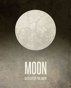 This Moon art print from my Solar System poster series makes a great astronomy gift for any space enthusiast! This space poster has a textured look and a warm vintage feel. My Solar System, Solar System Poster, Space And Astronomy, Astronomy Posters, Nasa Posters, Home Music, Systems Art, Lunar Moon, Space Illustration