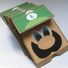 Mario Thank You Notes Invitations Luigi Says by ElvesInTheAttic, $32.95