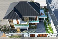 Luxurious two-storey modern villa - Pinoy House Plans Architecture Magazines, Amazing Architecture, Online Architecture, Double Storey House Plans, Small Villa, 2 Storey House Design, What House, Modern Villa Design, Model House Plan