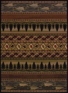 5x8-5-039-3-034-x-7-039-2-034-Lodge-Cabin-Southwestern-Bear-Paw-Fish-Pine-Leaf-Area-Rug