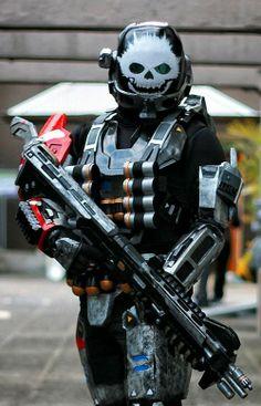 Emile from the Halo: Reach game. Halo Cosplay, Epic Cosplay, Amazing Cosplay, Cosplay Outfits, Cosplay Costumes, Halo Reach, Batman Christian Bale, Batman Begins, Gi Joe
